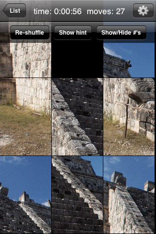 Screenshot aQ's Pro Slider Puzzle: the Maya